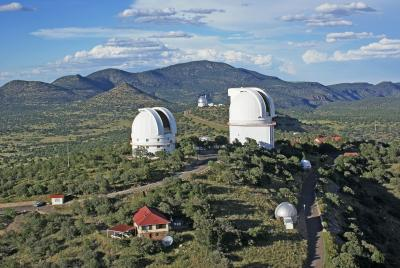 Aerial view of McDonald Observatory.