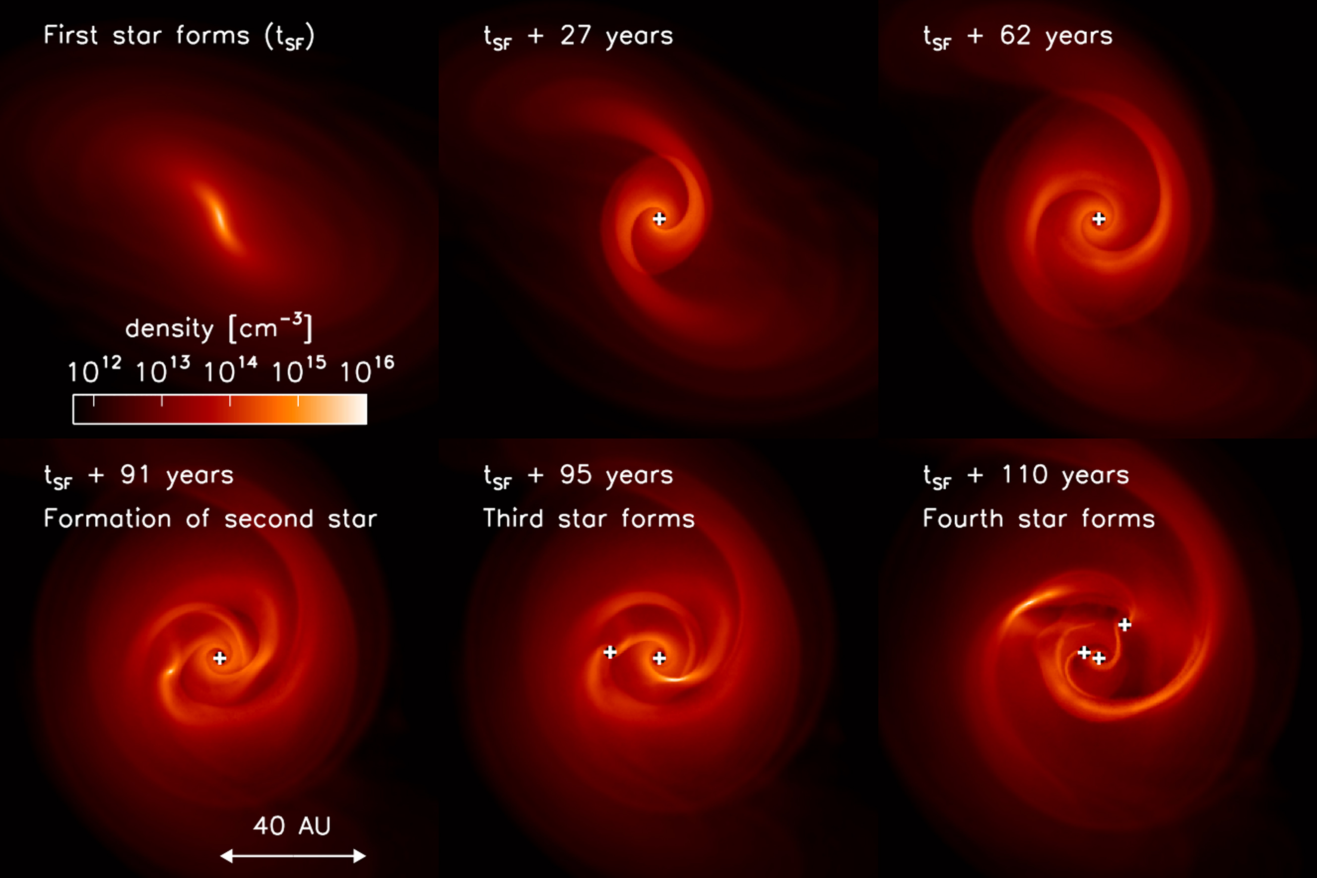 Time Sequence Of The Disk Evolution Around The First Star