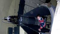 The 2.1-meter Otto Struve telescope has been brought down for servicing.