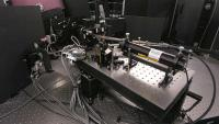 The High Resolution Spectrograph is located below the observing floor of the HET