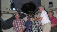 People at telescope