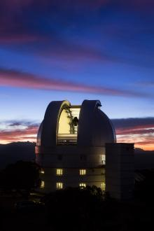 Struve dome at sunset