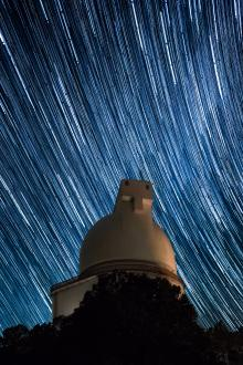 Smith Telescope with star trails