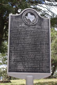 This sign from the Texas Historical Survey Committee explains the the founding o
