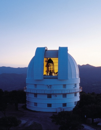 The 2.1-meter (82-inch) Otto Struve Telescope at the University of Texas McDonal