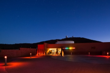 Visitors Center at night