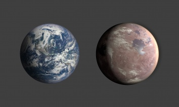 Comparison of Earth & Kepler-1649c (unlabeled)