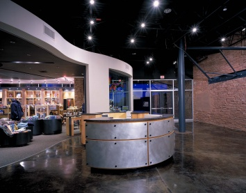 The Information Desk and the Astronomy Gift Shop at the Frank N. Bash Visitors C