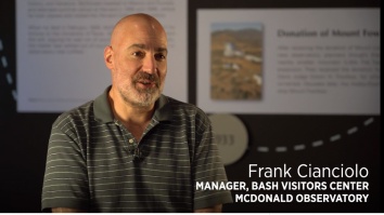 McDonald Observatory video featuring Frank Cianciolo