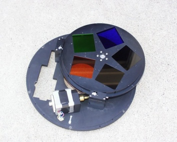 Filters used for astronomical observations, such as these, are often mounted on