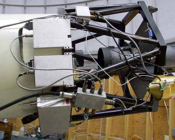 The Prime Focus Corrector mounted on the 0.8-meter telescope.