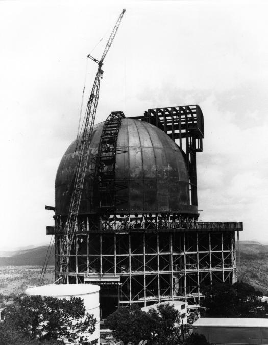 Construction on the 107-inch telescope