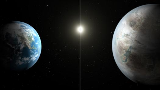Kepler-452b compared to Earth