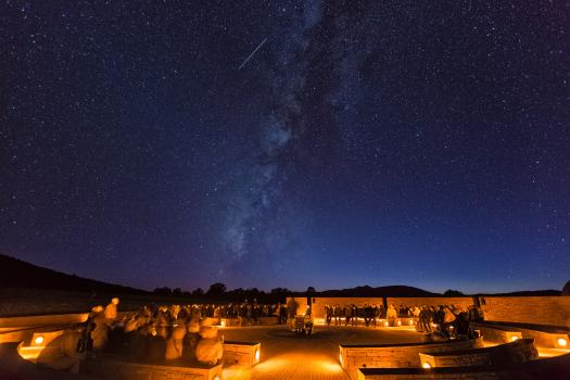 Amphitheater with Milky Way
