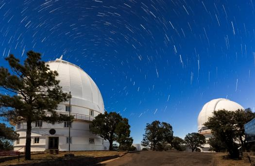 domes with star trails