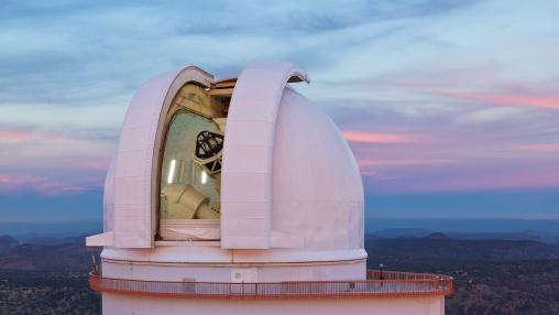 Smith Telescope with clouds