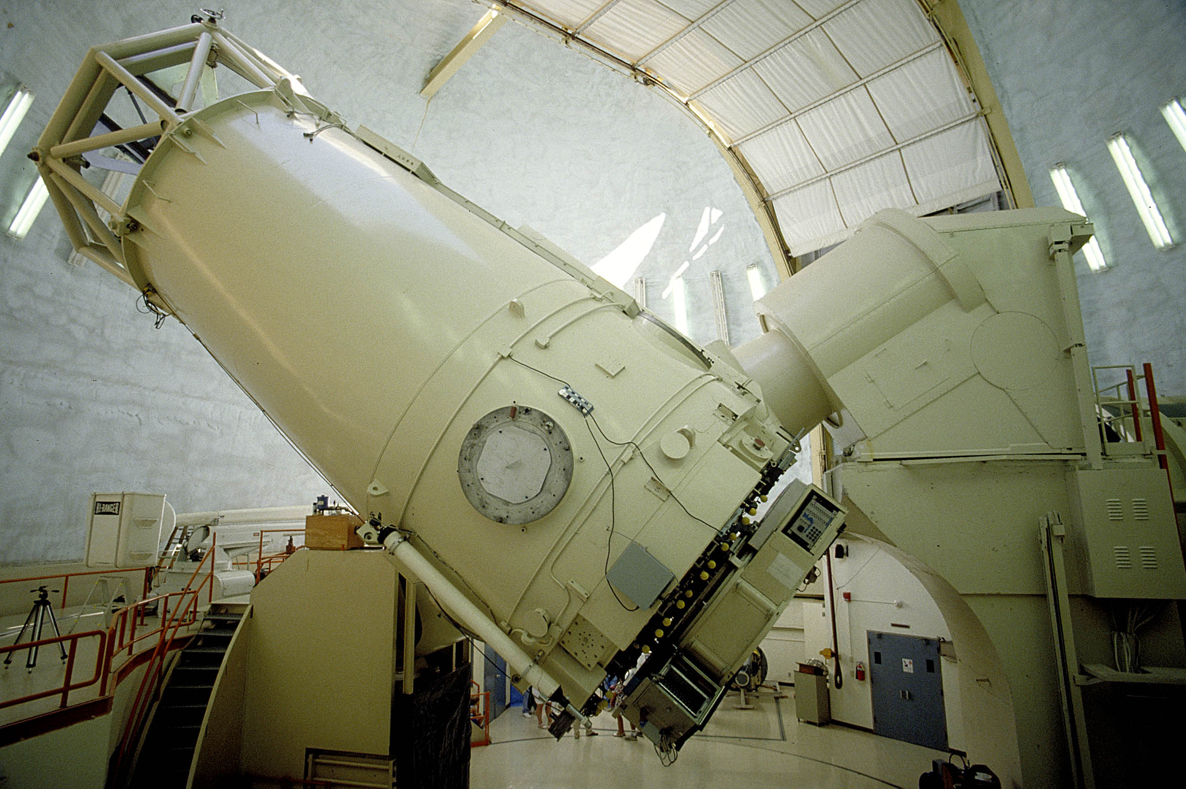 The 2.7-meter (107-inch) Harlan J. Smith Telescope at the University of Texas Mc
